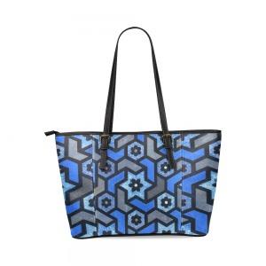 Sac Cabas Femme - Mosaique fleur indigo