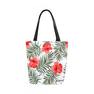 Sac de plage Femme - hibiscus rouge