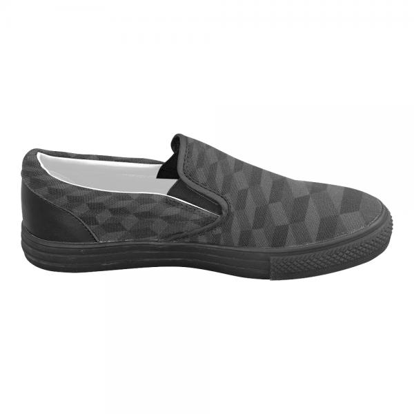 Chaussure homme mocassin - total mosaique noire