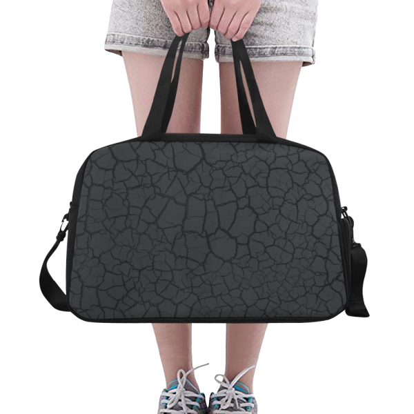 sac waterproof bagage + compartiment chaussure - désert noir