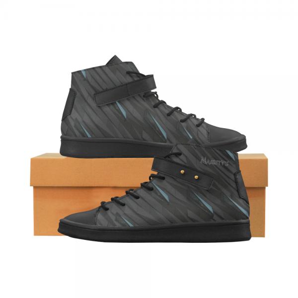 Chaussure montante  Homme cuir cristaux noir