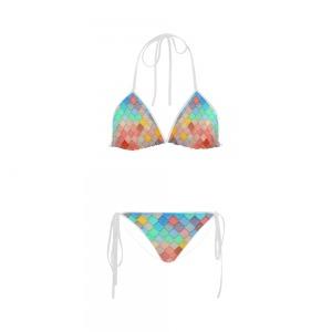 Maillot de bain femme - tuile arc-en-ciel Bikini