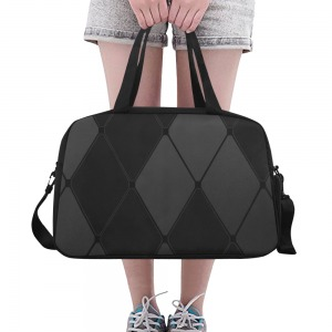 sac waterproof bagage + compartiment chaussure - carreaux noirs