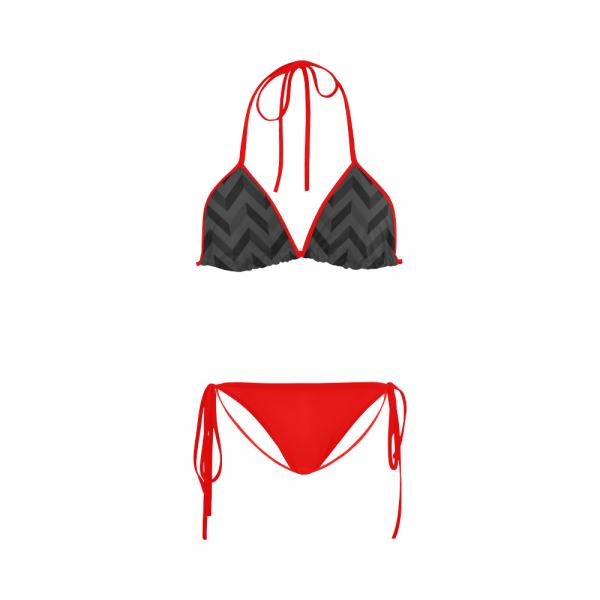 Maillot de bain femme - Bikini Rouge Slalom