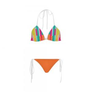 Maillot de bain femme - Bikini multicolor - orange