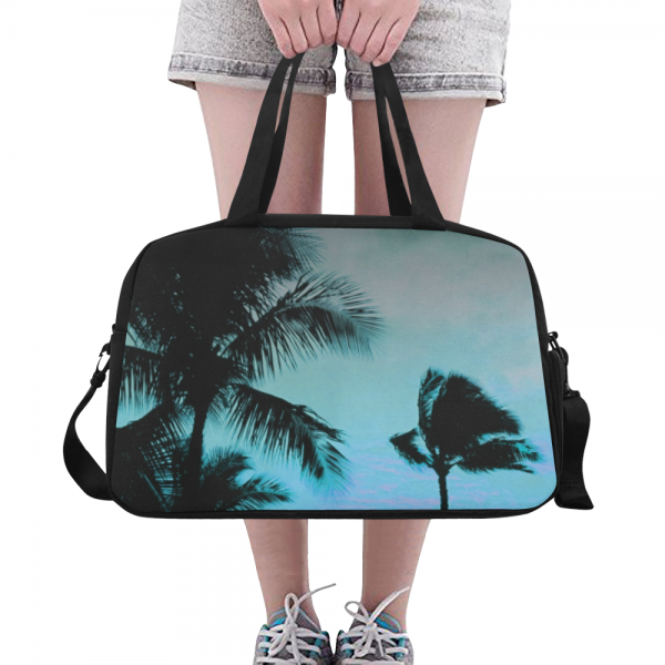 sac waterproof bagage + compartiment chaussure - blue coconut