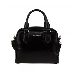 Petit Sac à main Majesty's - Simili Cuir noir Shoulder