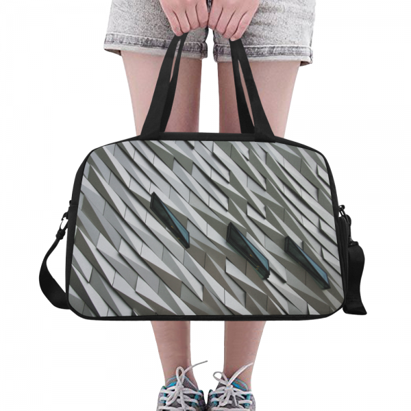 sac waterproof bagage blanc + compartiment chaussures