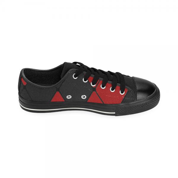 Chaussure carreaux noirs et rouges