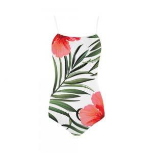 Maillot de bain femme - Monokini hibiscus