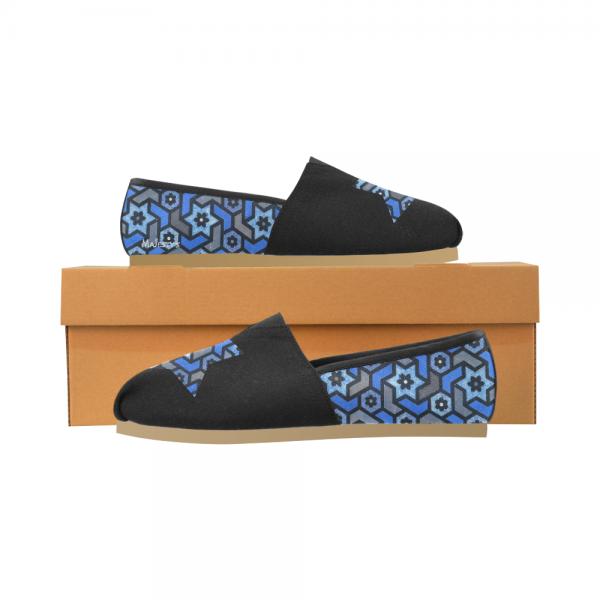 Chaussure Femme - mosaique étoile bleu
