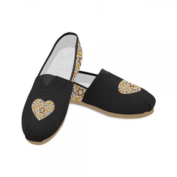 Chaussure Femme - mosaique coeur doré