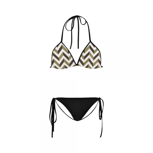 Maillot de bain femme Beige Slalom Bikini
