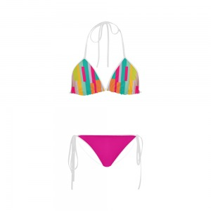 Maillot de bain femme - Bikini multicolor - fushia