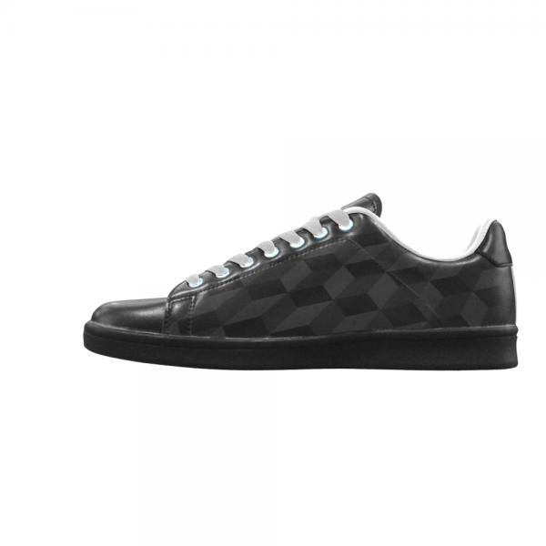 Chaussure Sneaker noir motif carreau Homme