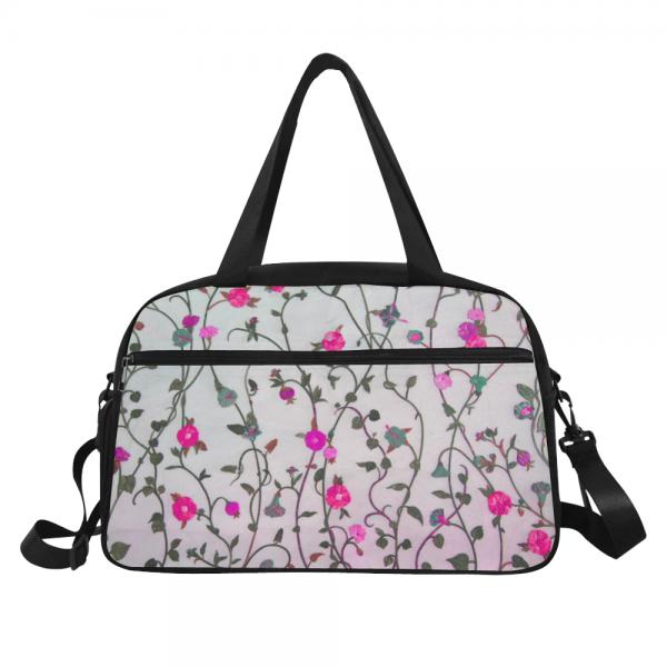 Sac de voyage Femme - compartiment chaussure fleur rose