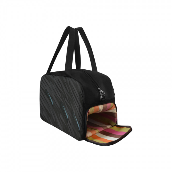 Sac waterproof bagage noir + compartiment chaussure