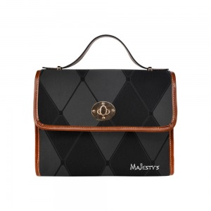 Sac bandoulière Majesty's - Carreaux noirs Waterproof