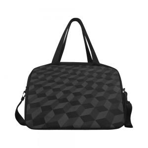 Sac waterproof bagage + compartiment chaussure - mosaique noir