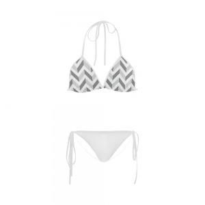 Maillot de bain femme - White Slalom Custom Bikini